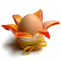 Eierbecher Blume mit Schleife