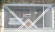 GM - 01 - Portão de Aço Tubular com Detalhe em Madeira