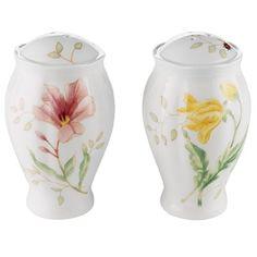 Lenox Butterfly Meadow Fine Porcelain Salt and Pepper Shakers