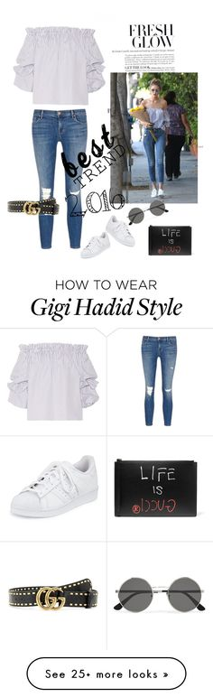 """""""Nice trend of 2016"""" by bethga on Polyvore featuring adidas, Caroline Constas, J Brand, Yves Saint Laurent, Gucci and besttrend2016"""