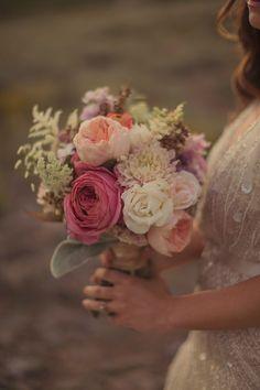 #weddingbouquet by Urban Chateau Floral  - photo by Alixann Loosle - http://ruffledblog.com/blush-and-gold-utah-wedding/