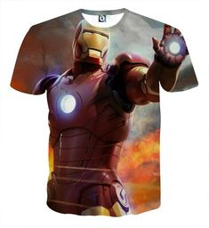 a157e76f0cfa Marvel Comics Iron Man s Power Show Style Full Print T-shirt  ironman   superhero