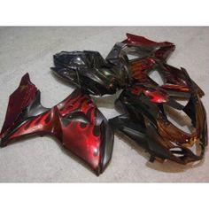 Suzuki GSX-R 1000 2009-2010 K9 Injection ABS Fairing - Red Flame - Black | $799.00