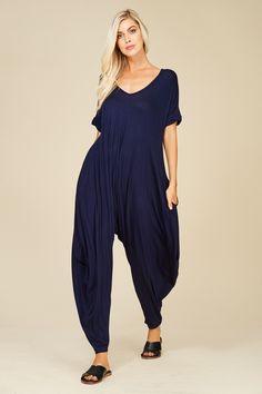 ea138721ba Short Sleeve Jumpsuit with Side Pockets