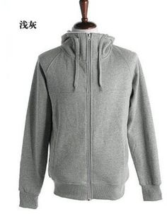 Men New Style Autumn Hood Sports Casual Long Sleeve Grey Cotton Hoodie M/L/XL/XXL@X01g