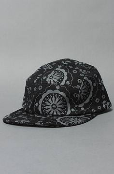 The 5 Panel Cap in Black Paisley 41c93635404
