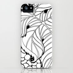 Grapes in B & W iPhone Case by Alohalani - $35.00
