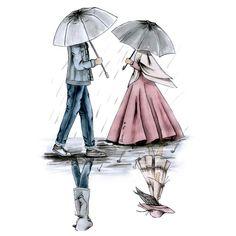 kumpulan kartun romantis parf 3 - my ely Cute Couple Drawings, Cute Couple Art, Anime Love Couple, Cute Muslim Couples, Muslim Girls, Cute Couples, Cartoon Pics, Cartoon Art, Cute Cartoon