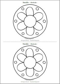 Mandalas Zum Ausdrucken Blumen Mandala Kostenlos Download Malvorlage