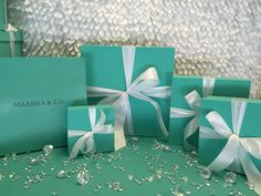 8inch Square Gift Box Centerpiece With Ribbon