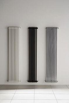 Radiateur à eau chaude / vertical / contemporain / chromé KEM D.A.S Design Salon, Minimal Kitchen, Radiator Cover, Heating Systems, Bathroom Interior Design, New Homes, Home Appliances, Curtains, House Styles