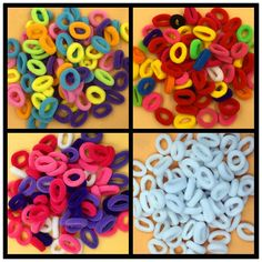 Unos 80 unids Titulares Ponytail Elásticos Del Pelo Accesorios de Nylon de Colores Niños Chica Rubberbands Tie Gum Helado Colores
