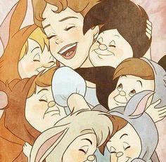 *Wendy & the lost boys peter pan, 1953 peter pan anime, peter pan Disney Fan Art, Disney Love, Disney Magic, Peter Pan And Tinkerbell, Peter Pan Disney, Peter Pan Anime, Disney And Dreamworks, Disney Pixar, Peter Pan Desenho