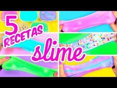 CÓMO HACER SLIME SIN BORAX FÁCIL 5 Recetas de Slime - YouTube Hair Bow Tutorial, Rose Tutorial, Diy Tutorial, How To Make Slime, How To Make Bows, Diy Bag Making, Diy Magazin, Minecraft School, Paper Magic