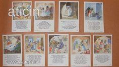 Egér família - Ida Bohatta szorgalom kártya, a 30-s évekből! Original Rare Print! Fleißbildchen