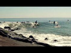 Tilt shift video about surf spot at Rockaway Beach (90th) on Long Island, New York.
