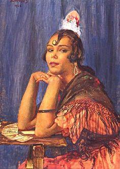 George Owen Wynne Apperley - The fortune teller Tarot, Fortune Telling Cards, Cartomancy, Fortune Teller, Art Uk, Henri Matisse, Oil Painting Abstract, Ancient Art, Lovers Art