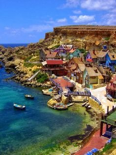 My Mum and Dad took me here at 3 years old to Popeye Village where the movie was shot in Malta.