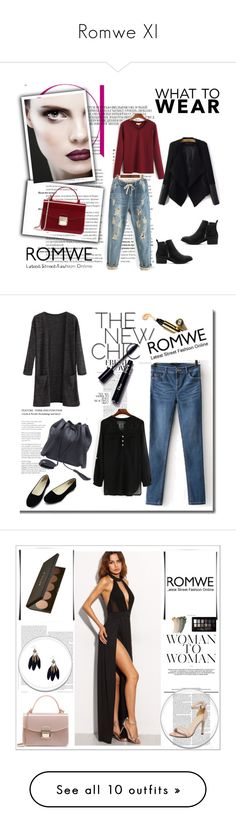 """""""Romwe XI"""" by nermina-okanovic ❤ liked on Polyvore featuring romwe, Maybelline and Gucci"""