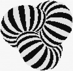 Embroidery Kit 2627 optical illusion Cross stitch pattern free large cushion cover