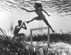 La primera sesión fotográfica bajo el agua