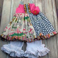 Hailey Fun & Cute Circus Circus Baby Dress by HottieTottieGirl, $44.00