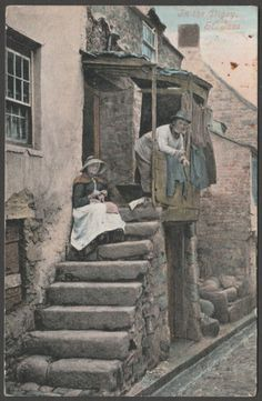 In the Digey, St Ives, Cornwall, 1904 - Valentine's Postcard