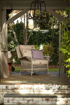 The Willow outdoor chair, available from The Tin Roof in Spokane WA #shopthetinroof #klaussner #outdoorfurniture