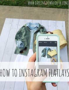 Directions on How to make flatlays on instagram and all the tips to successfully planning outfits to share.