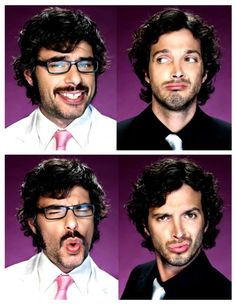 flight of the conchords. Bret McKensie and Jemaine Clement.