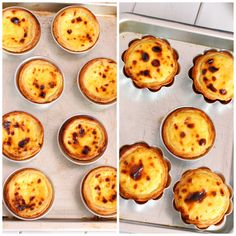 You can easily identify Portuguese egg tart  by its charred spotted surface , some called it Maillard reaction but actually mo...