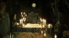 Throne room with candles