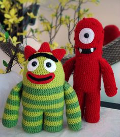 "Yo Gabba Gabba amigurumi, Brooklyn wants to ""grab them"" lol :)"