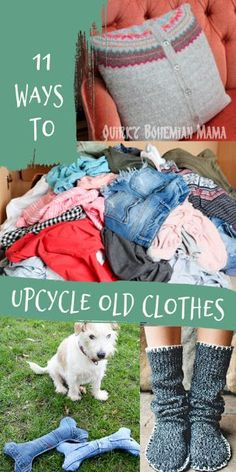11 Ways to Upcycle Old Clothes. Earth Day, World environment day, recycle and redesign clothing, how to upcycle clothes without sewing, thrift store c. Ropa Upcycling, Diy Kleidung Upcycling, Upcycling Ideas, Thrift Store Outfits, Diy Clothes Rack, Diy Clothes Refashion, Diy Clothing Upcycle, Upcycled Clothing Thrift Store, Revamp Clothes