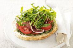Pesto & #Prosciutto Open Sandwich 15 Amazing Prosciutto #Sandwich Recipes   All Yummy #Recipes