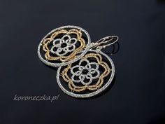 Perły lubią towarzystwo złota i srebra #frywolitki #tatting #koroneczka #occhi