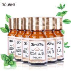 प्रसिद्ध ब्रांड ऑरोरोमा चाय पेड़ जैस्मीन कमल कैमोमाइल ओरेग्नो लौंग अरोमाथेरेपी स्पा बाथ के लिए आवश्यक तेल पैक 10 मिलीलीटर * 6 #AvocadoMask