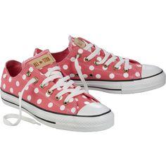 CONVERSE Sneaker ❤ pretty pink polka dots!!!
