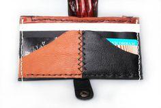 Genuine Black White Brown Tan Real Leather Passport Wallet Travel Purse Australian Real Leather Handmade OOAK Hemp, ZIP pocket Made in AUS