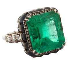 BOUCHERON Art Deco Emerald Ring  France  Circa 1920's
