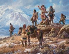 Apsaalooke Foot Soldiers by Martin Grelle Native American Canvas Giclee Native American Prayers, Native American Warrior, Native American Quotes, Native American History, American Symbols, Native American Paintings, Indian Paintings, Oil Paintings, Native Indian