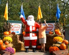 This is Colton, from Grayson, Kentucky, smiling with Santa on the first day of Happy Halloween Weekends in 2012. Such a fun day, despite the cold weather. He especially loved the 3D maze and pumpkin funnel cake. This picture was also our Christmas card last year.