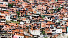 Architectural Chaos in poverty zones, Caracas, Venezuela.