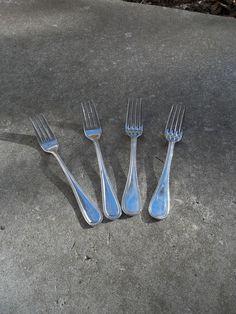 Vintage Silver Flatware Silver Plate Forks Wedding by misshettie, $9.00