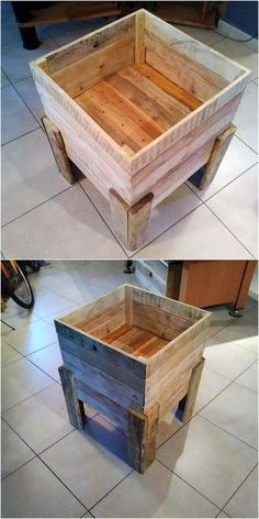 This is one of the best ideas in the repurposing of the old wood pallet material. This idea is all about giving the box option with the collaborative work of the storage being part of it. It is so modern and classy looking which you would love to add in your house.