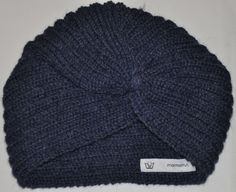 Handknitted turban in alpaca wool. At www.mormorrut.nu.