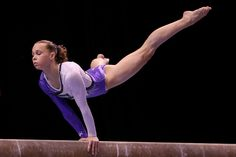 This leotard is amazing. Rebecca Bross during the Womens AA of the 2010 worlds. Balance beam. Love hate relationship. Almost placed first in state my last year of gymnastics. .025 off.