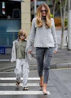 Love the stylish mom & son!