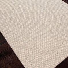 Jaipur Highlanders Aberdeen Warm Cream Flat Weave Wool Rug @LaylaGrayce - great room