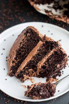 Simple Chocolate Birthday Cake with Whipped Chocolate Buttercream Recipe
